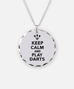 Keep calm and play Darts Necklace