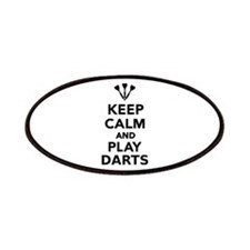 Keep calm and play Darts Patches