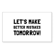Better Mistakes Decal