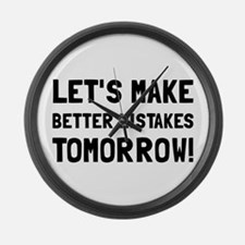 Better Mistakes Large Wall Clock