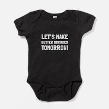 Better Mistakes Baby Bodysuit