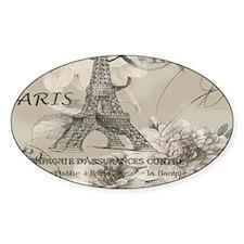 cream floral elegant paris Eiffel tower art Sticke