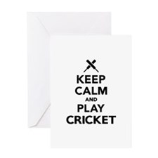 Keep calm and play Cricket Greeting Card