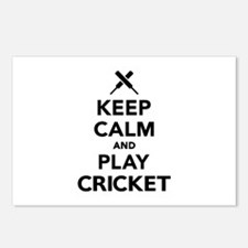 Keep calm and play Cricke Postcards (Package of 8)
