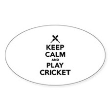 Keep calm and play Cricket Decal