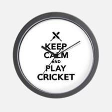 Keep calm and play Cricket Wall Clock