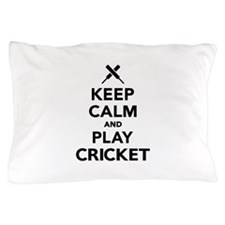 Keep calm and play Cricket Pillow Case