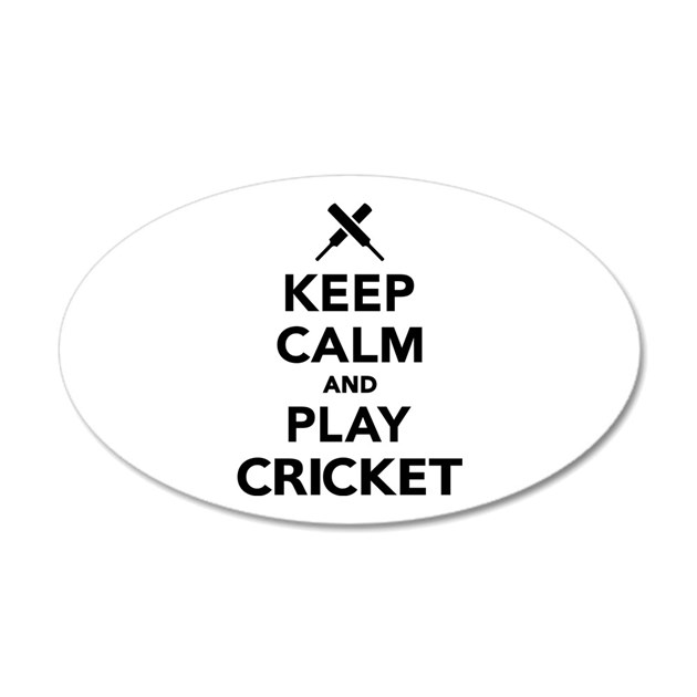Keep calm and play Cricket Decal Wall Sticker by Mrteeshop