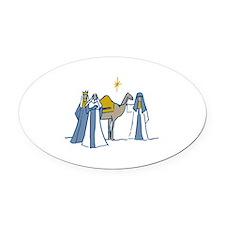Three Kings Oval Car Magnet