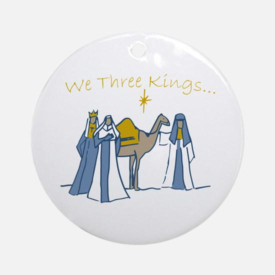 We Three Kings Ornament (Round)