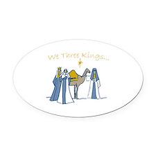 We Three Kings Oval Car Magnet
