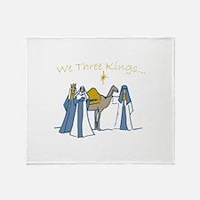 We Three Kings Throw Blanket