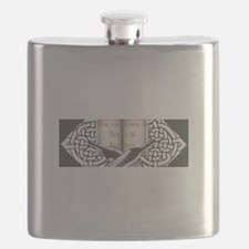 For the Love of Books and Alcohol Logo Flask