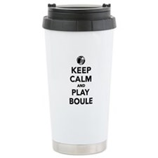 Keep calm play Boule Bo Stainless Steel Travel Mug