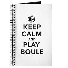 Keep calm play Boule Boccia Journal