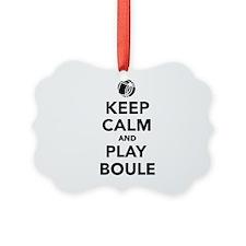 Keep calm play Boule Boccia Ornament