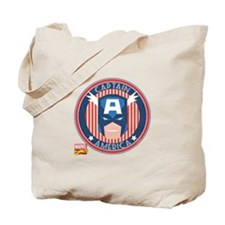 Captain America Stamp Tote Bag