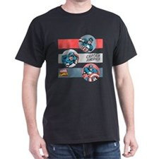 Captain America Stripes T-Shirt
