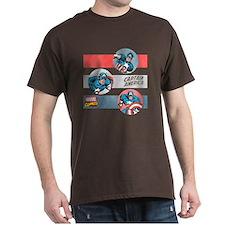 Captain America Stripes T-Shirt