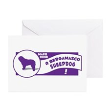 Make Mine Bergamasco Greeting Cards (Pk of 10)