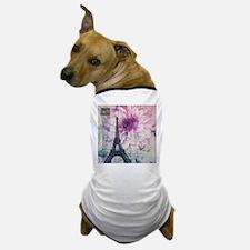 floral paris eiffel tower art Dog T-Shirt