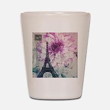 floral paris eiffel tower art Shot Glass