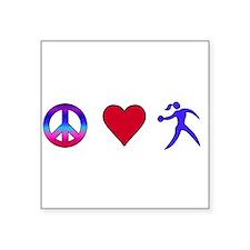 Peace Love Discus Sticker