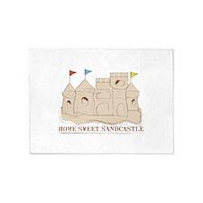 Home Sweet Sandcastle 5'x7'Area Rug