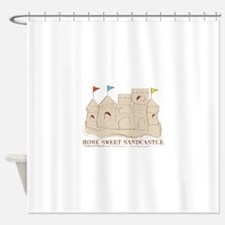 Home Sweet Sandcastle Shower Curtain