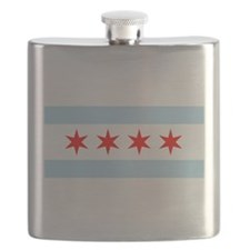Flag of Chicago Flask