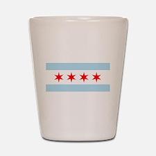 Flag of Chicago Shot Glass