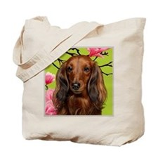 Long Haired Dachshund Dog Tote Bag