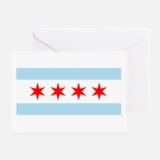 Flag of Chicago Greeting Cards