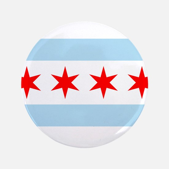 """Flag of Chicago 3.5"""" Button"""