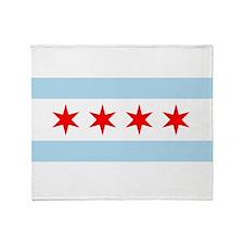 Flag of Chicago Throw Blanket