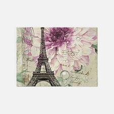 postmark floral paris eiffel tower art 5'x7'Area R