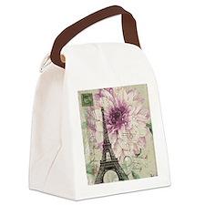 postmark floral paris eiffel tower art Canvas Lunc
