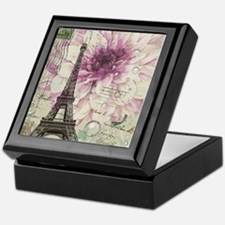 postmark floral paris eiffel tower art Keepsake Bo