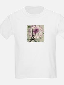 postmark floral paris eiffel tower art T-Shirt
