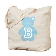Teddy Bear with Letter B Tote Bag