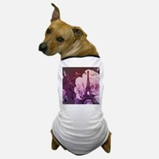 purple floral paris eiffel tower art Dog T-Shirt