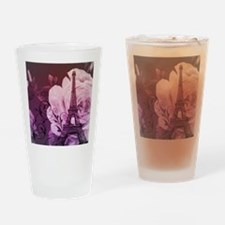 purple floral paris eiffel tower art Drinking Glas