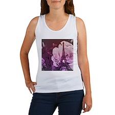purple floral paris eiffel tower art Tank Top
