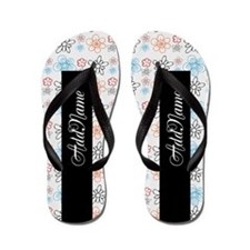 Cute Girly Spring Floral Personalized Flip Flops
