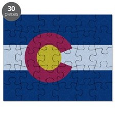 Flag of Colorado Damask Pattern Puzzle