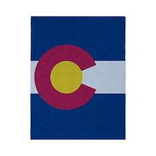 Flag of Colorado Damask Pattern Twin Duvet