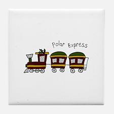 Polar Express Tile Coaster