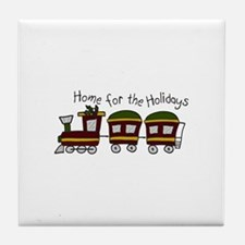 Home For The Holidays Tile Coaster