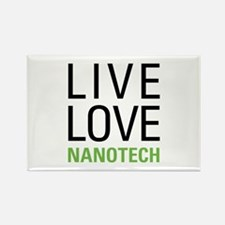 Live Love Nanotech Rectangle Magnet