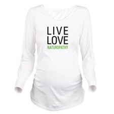 Live Love Naturopath Long Sleeve Maternity T-Shirt